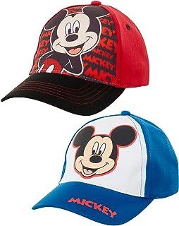 Mickey Mouse کودک پیش دبستانی و کوله پشتی بچه گانه بیس بال 2 کلاه برای پسران 2-7 ساله کلاه بیس بال بچه ها