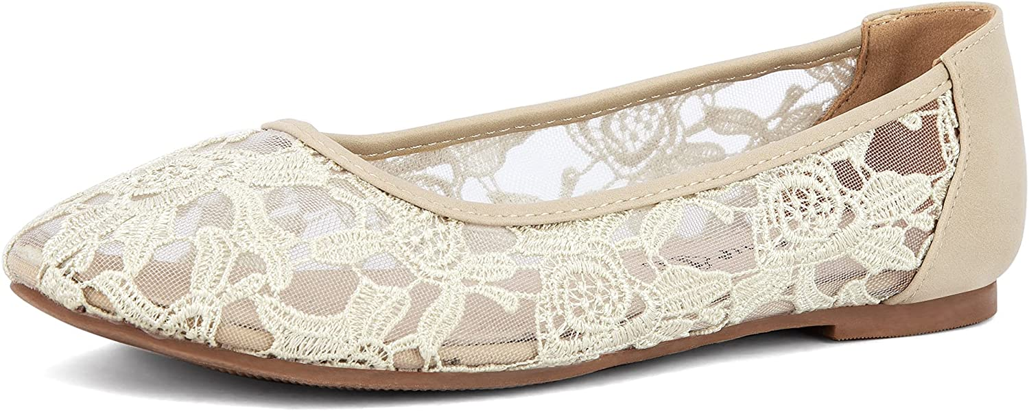 Greatonu Online limited product Women Shoes Cut Out Slip Product Ballet Lace On Flat Synthetic