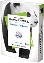 Hammermill White Cardstock, 110lb, 8.5 x 11 Colored Cardstock, 1 Pack, 200 Sheets – Thick Cardstock For Everyday Projects,...