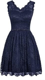 TalinaDress Women Short Lace V Neck Beading Bridesmaid Dresses Prom Gowns E231LF