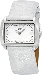 Tissot Women's T023.309.16.031.02 T-Wave White Dial Leather Strap Watch