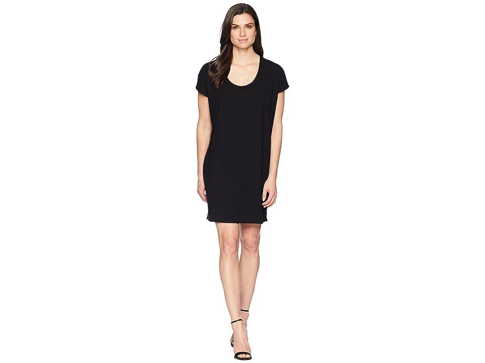 Lilla P Easy Scoop Neck Dress (Black) Women