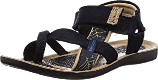 Walkaroo Boys Faux Leather Blue Outdoor Sandals (W1597)