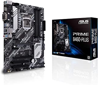 ASUS Prime B460-PLUS - Placa Base ATX Intel de 10a Gen LGA 1200, Dual M.2, DDR4 2933 MHz, LAN 1Gb, HDMI, DVI, VGA, USB 3.2 Gen 1 soporta Intel Optane
