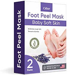 CÉLOR Baby Foot Peel Mask with Lavender and Aloe Vera Gel