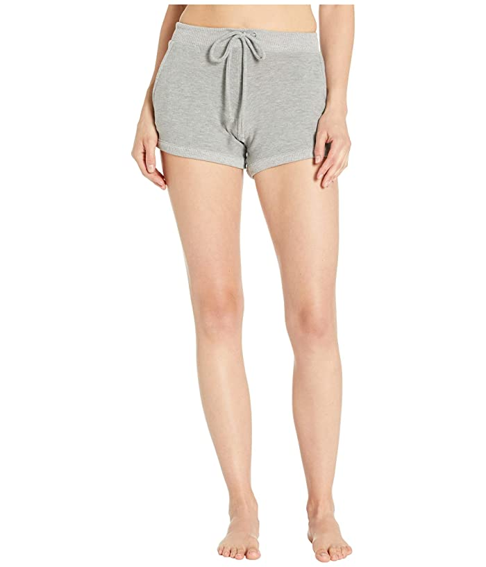 Chaser Cozy Knit Drawstring Lounge Shorts (Heather Grey) Women