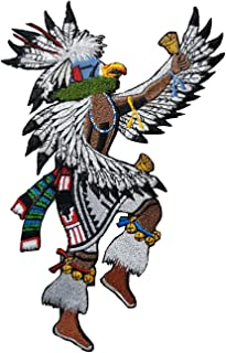 Eagle Dancer Kachina Embroidered Patch 6.3 x 9.8