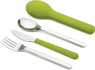 Joseph Joseph 81033 GoEat Compact Stainless-Steel Cutlery Set, Green