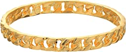 Polished Gold Chain Link Bangle