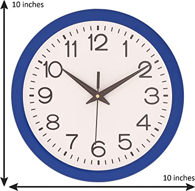 urban monk creations Navy Blue Plastic Analog Wall Clock (10 x 10 Inch)