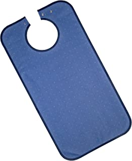 PFLEGE-POINT Kleidungsschutz/Ess-Schürze für Erwachsene, wasserdicht dunkelblau