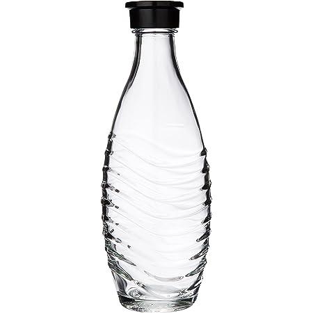 Sodastream Lot de 2 Carafes en Verre pour Machine à Eau Pétillante Crystal, Transparentes, Compatibles Lave-vaisselle, 2 x 0.6 L (Convient pour maximuscle crystal et Penguin)
