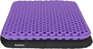 Gel Egg Seat Cushion-Honeycomb Design Chair Pad with Non-Slip Cover-Tailbone, Sciatica, Back Pain Relief-Keep Comfortable Sitting for Long Time for Car, Wheelchair, Computer and Desk Chair (Purple)