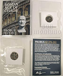 PROBUS - Ancient Roman Bronze Coin in Folder with Certificate of Authenticity 276-282 AD
