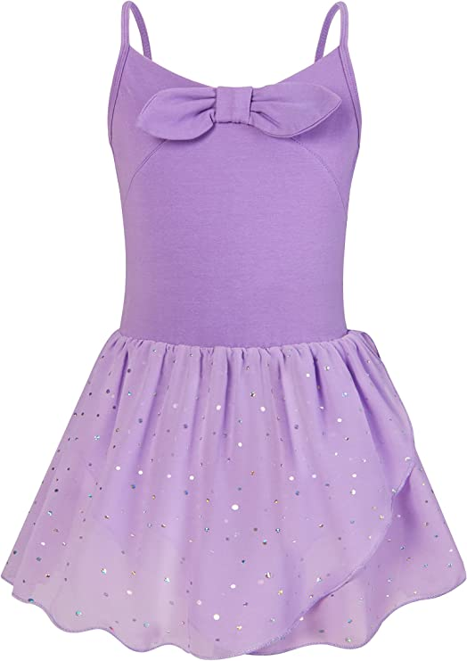 Adolife Toddler Girls Dance Dress Skirted Leotard Ballet Dress Ballerina Outfit Tutu Camisole Leotard for 3-8 Years Old
