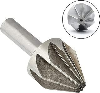 Rannb High Speed Steel Straight Shank 32mm Cutting Dia 60° Chamfer Mill Cutter Countersink Drill Bit -Pack of 1