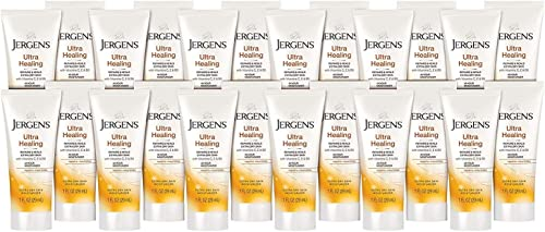 Jergens Ultra Healing Dry Skin Moisturizer, 1 Ounce, Travel Size Body and Hand Lotion, 24-pack, for Absorption into E...