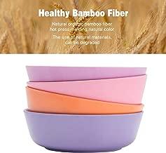 4pcs Bamboo Kids Bowls (20 fl oz) for Baby Feeding, Non Toxic & Safe Toddler Bowls, Eco-Friendly Tableware for Baby Toddler Kids Bamboo Toddler Dishes & Dinnerware Sets (Sunset)