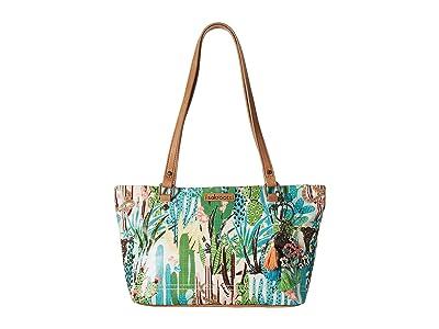 Sakroots Artist Circle Small Satchel (Natural Mojave Mirage) Tote Handbags