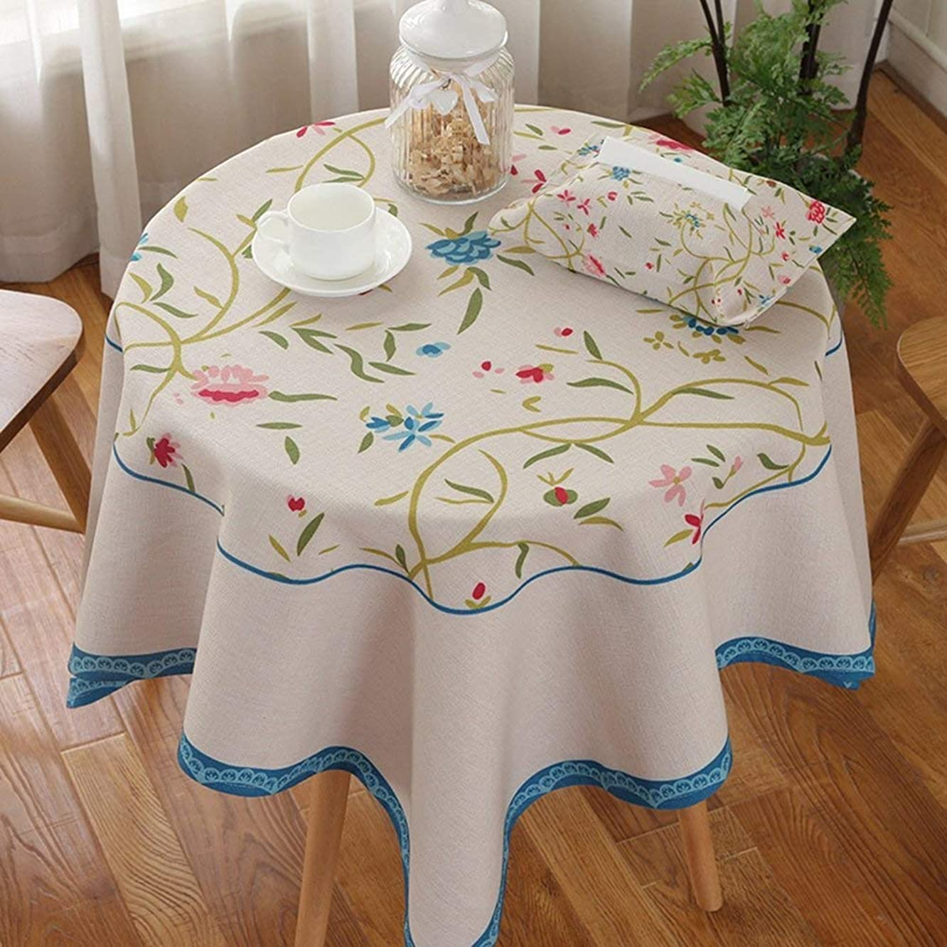 Tablecloth Table Cover Art Fresh Wallpaper Cloth Linen Tablecloth Square Coffee Table Cover Cloth Table Dust Tablecloth Single Square Tablecloth for Wedding Restaurant Party Indoor Kitchen Picnic , Q