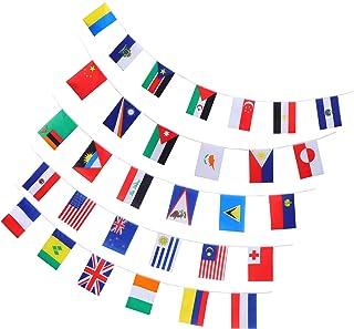 STOBOK 100 Países Bandeiras Corda Bandeira Bandeira Internacional Pendurado Garland para Eventos da Festa de Inauguração C...