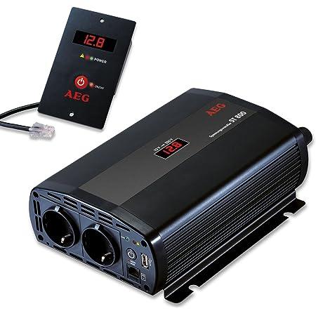 Aeg 97116 Spannungswandler St 800 Watt 12 Volt Auf 230 Volt Fernsteuerungsmodul Und Batteriewächterfunktion Auto