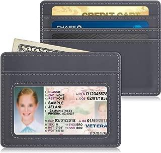 Slim Minimalist Wallet Card Holder, Fintie RFID Blocking Money Pocket with ID Window Credit Card Slot Cases