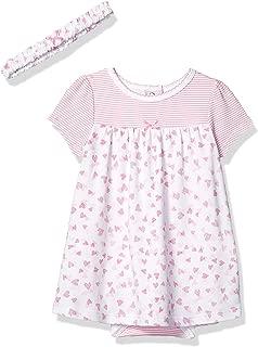 Baby Girl's Knit Bodysuit Dress with Headband Dress