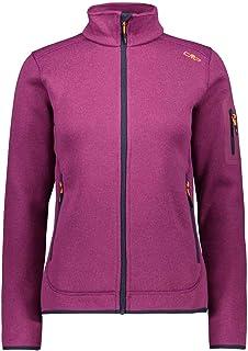 CMP Women's Fleece Melange Jacket KnitTech, Berry-B.Blue, 20