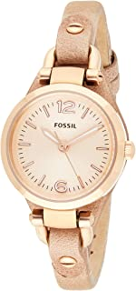 Fossil Womens Quartz Watch, Analog Display and Leather Strap ES3262