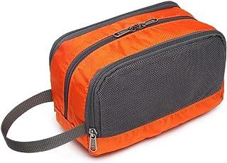 Toiletry Bag, Veckle Dopp Kit Shaving Bag for Men Nylon Travel Toiletry Organizer Shower Wash Bag for Women with Hanging Strap Orange