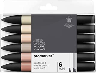 Winsor & Newton Promarker Set 6Pc Tons de Chair Set 1 Set de 6
