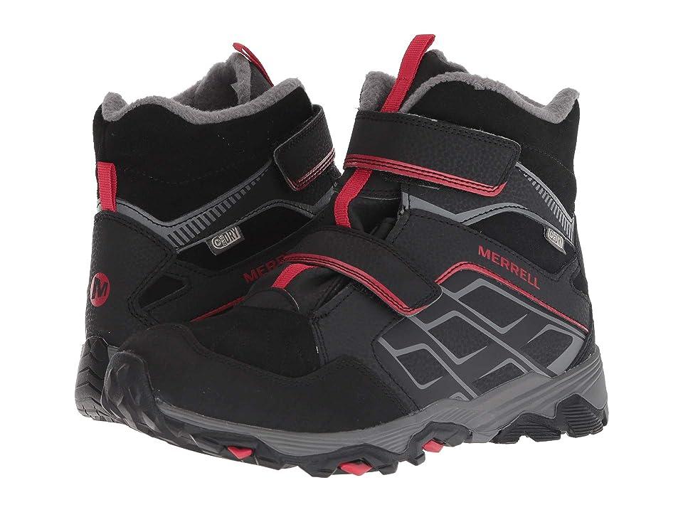 Merrell Kids Moab FST Polar Mid A/C Waterproof (Big Kid) (Red/Black) Boys Shoes