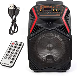 """$49 » 8"""" Portable Bluetooth Speaker Bass LED Light Up Tailgate Party Loudspeaker Wireless Stereo with Rechargeable Battery and Remote Control"""