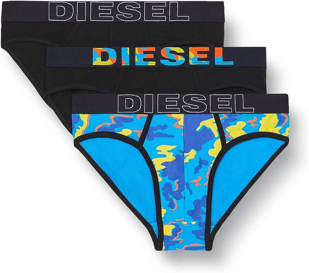 Diesel umbr-andrethreepack,mutandine slip per uomo,pacco da 3,in cotone al 100 % 00SH050BAOFE4157