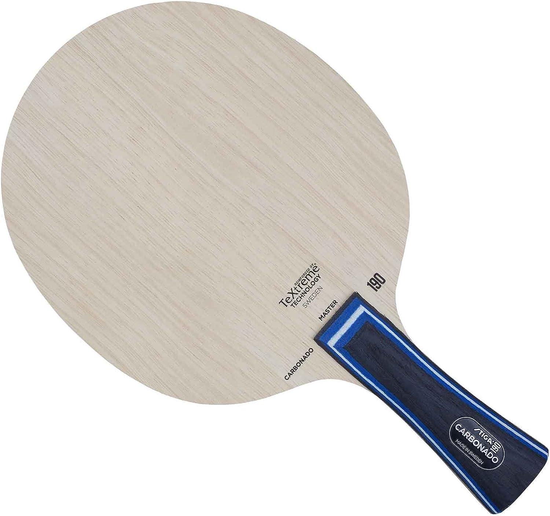 Stiga Carbonado 190 (Master Grip) Pala de Tenis de Mesa, Unisex Adulto, Madera, Talla única