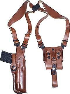 Premium Leather Vertical Shoulder Holster System for H&K VP9 4''BBL, Right Hand Draw, Brown Color #1600#