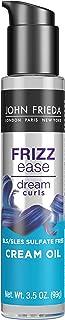 John Frieda Frizz Ease Dream Curls Cream Oil, Nourishes Dry and Damaged Hair, Transparent, 3.45 Fl Oz