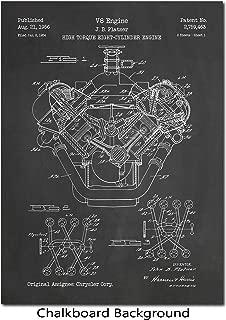 Art Print Depicting 1956 Chrysler V8 Engine Patent