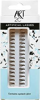 Art 2C - Synthetische kunstwimpers, 10 mm, zwart, 60 bosjes per verpakking, kwaliteitslijm - T10
