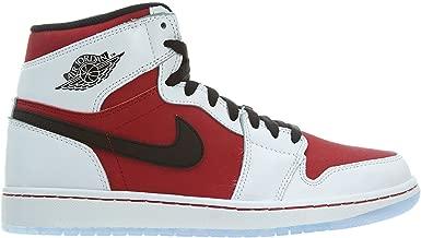 Nike Mens Air Jordan 1 Retro High OG Carmines Basketball Shoes White/Carmine/Black 555088-123 Size 11.5
