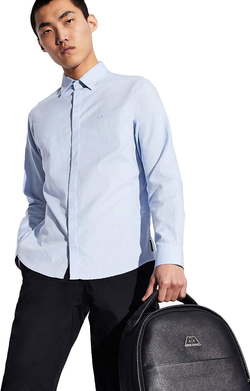 AX Armani Exchange Men's Long Sleeve Oxford Button Up Shirt