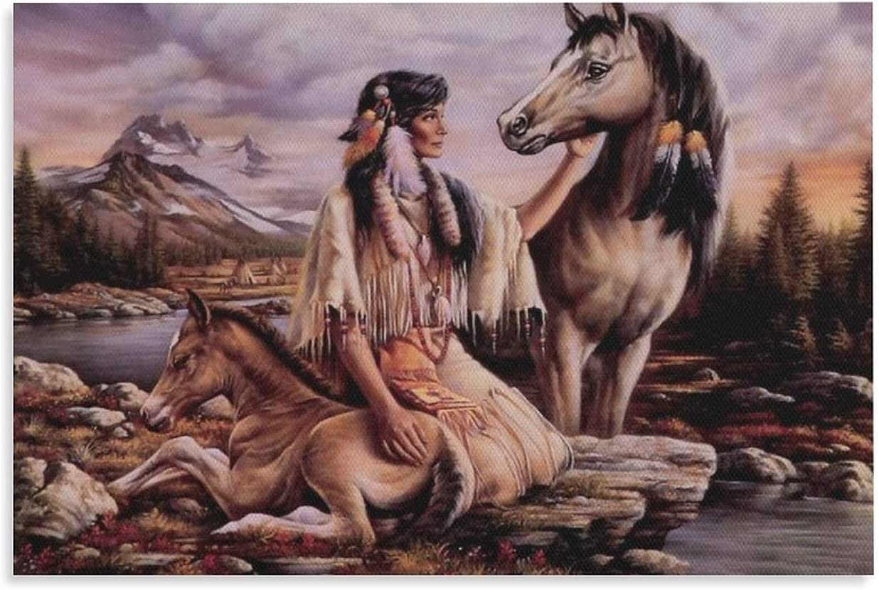 Native American Art Ranking TOP6 Poster 6 HD Print Ar Cheap SALE Start Painting Canvas on Wall