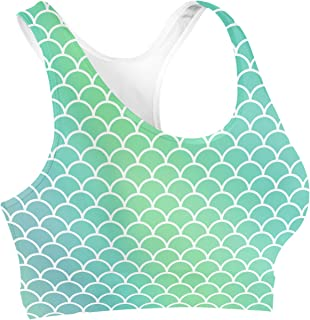 Rainbow Rules Mermaid Tail Sports Bra