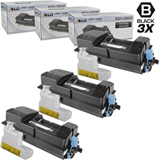 LD Compatible Toner Cartridge Replacement for Kyocera TK-3122 1T02L10US0 (Black, 3-Pack)