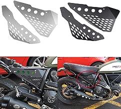 Motorcycle Accessories Aluminum Side Mid frame Cover Panel Protector Guard Fairing for Ducati Scrambler Sixty/Desert Sled/Full Throttle/Urban Enduro (Black)