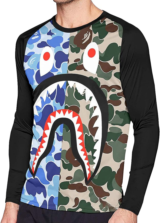 Ckeibt Long Sleeve T Shirts for Men,Casual Cool Sweatshirt Black T-Shirt