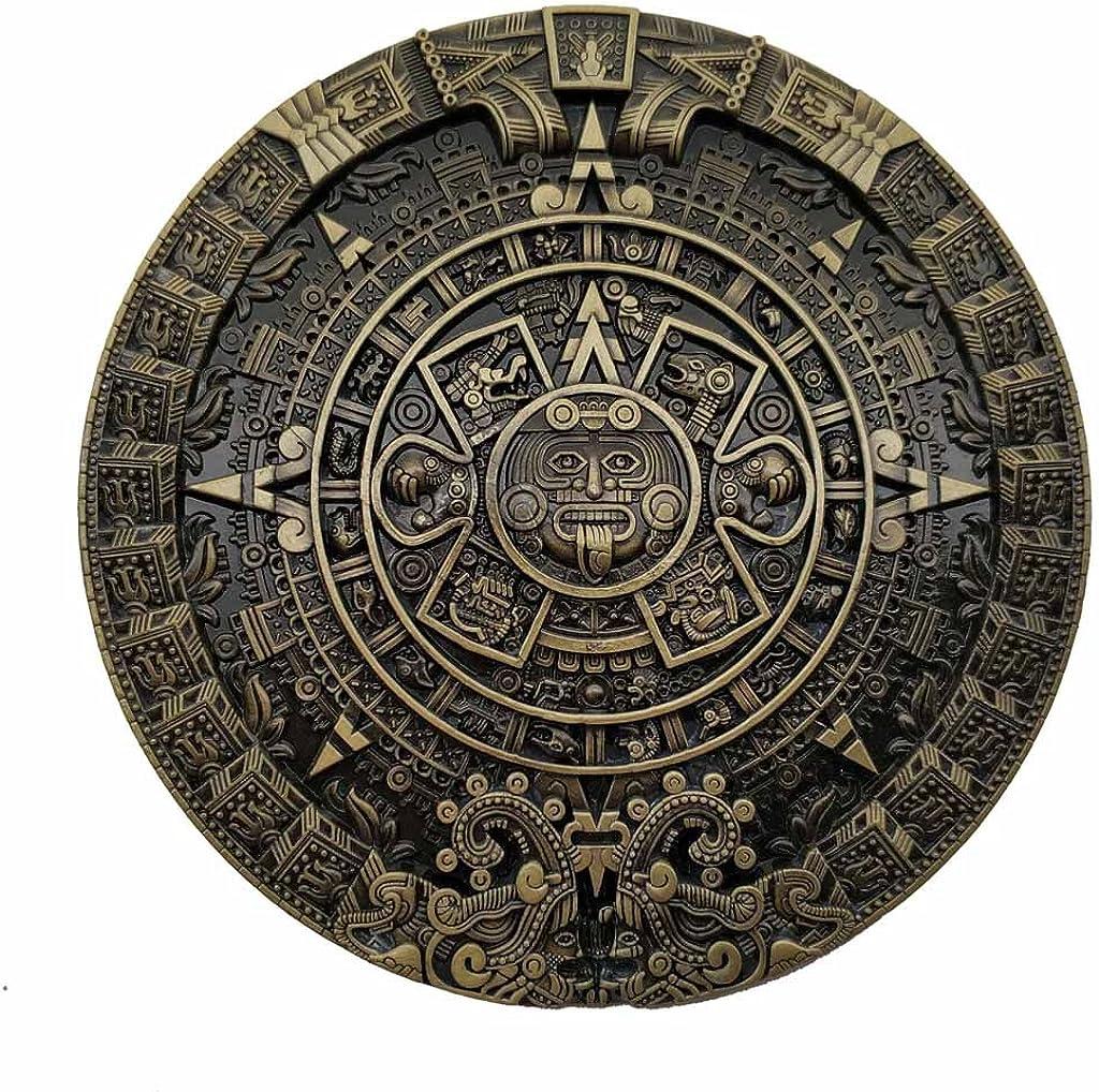 YONE Hebilla de cinturón Mayan Aztec Calendar Belt Buckle