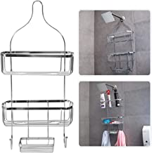 Egab 3 Tier Bathroom Shelf Hanging Shower Head Caddy Holder Organizer Metal Chrome Plated Storage for Shampoo Conditioner Soap Towels (29.5 x 12.7 x 61)