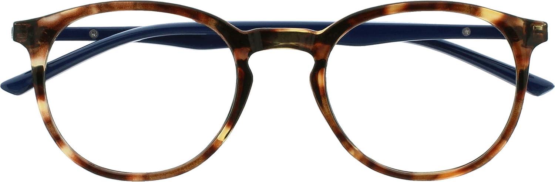 Opulize Met Bloqueo Luz Azul Gafas Computadora Juego De Azar Marrón Carey Hombres Mujeres Bisagras Resorte B60-2 +0,00